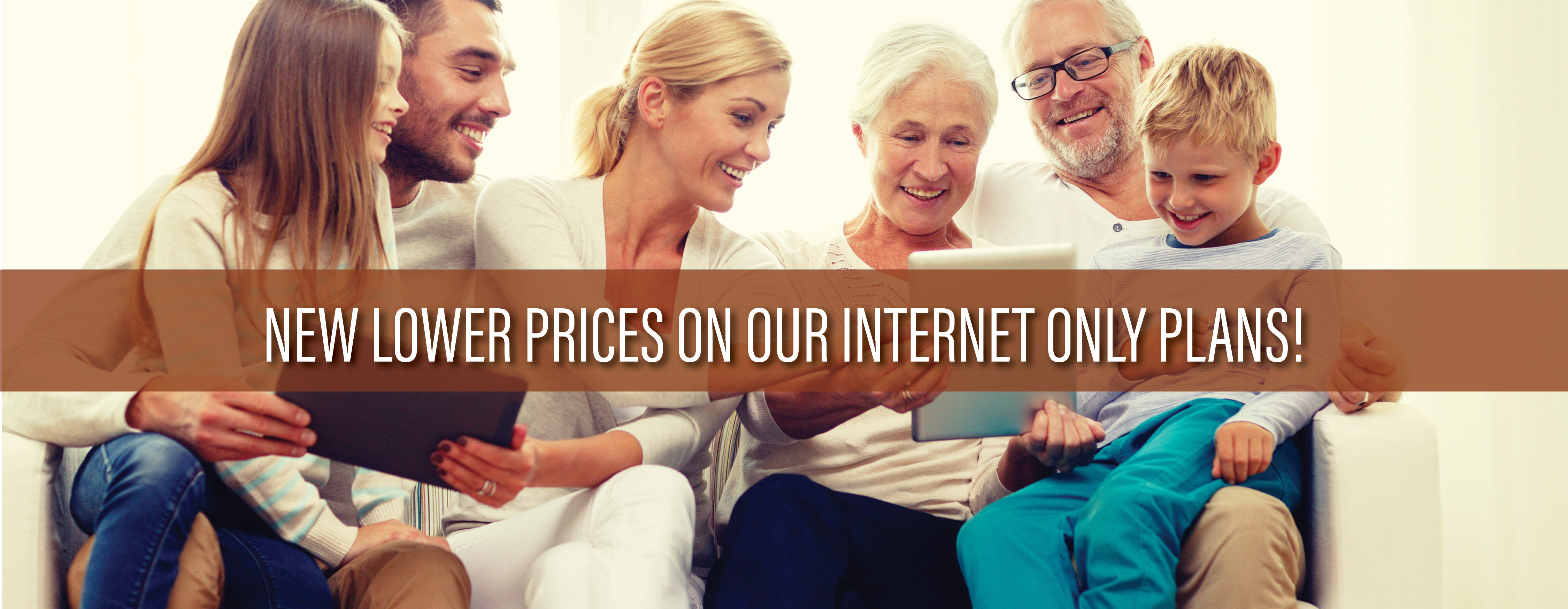 Our internet prices are going down!!